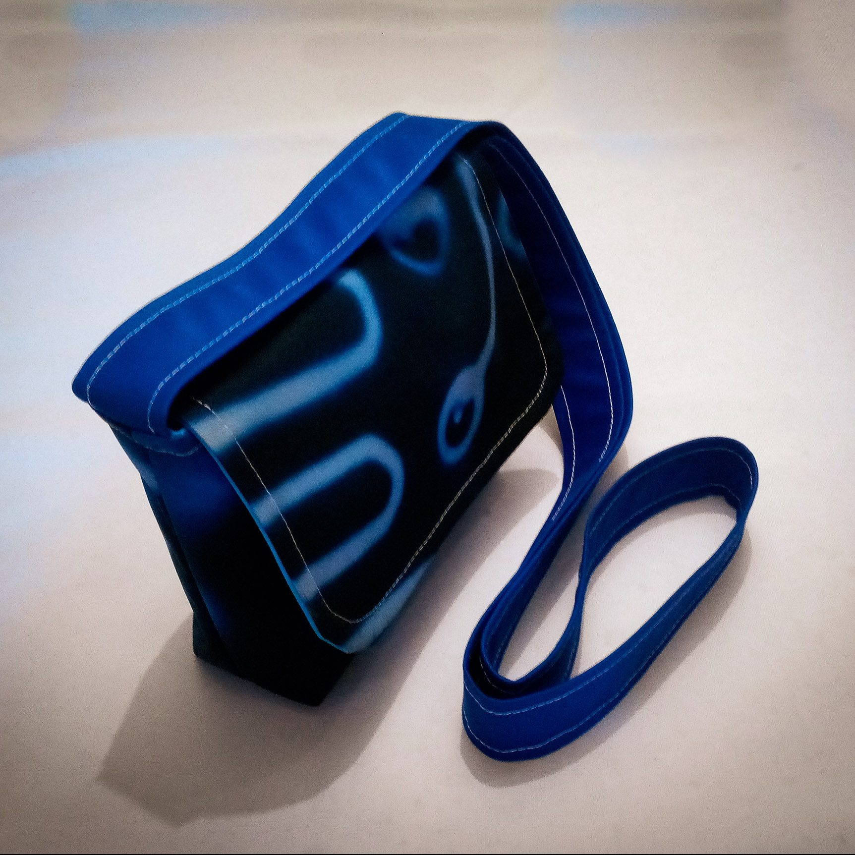 Fabric Cross Body Small Handbag… Blue Circuits Fabric