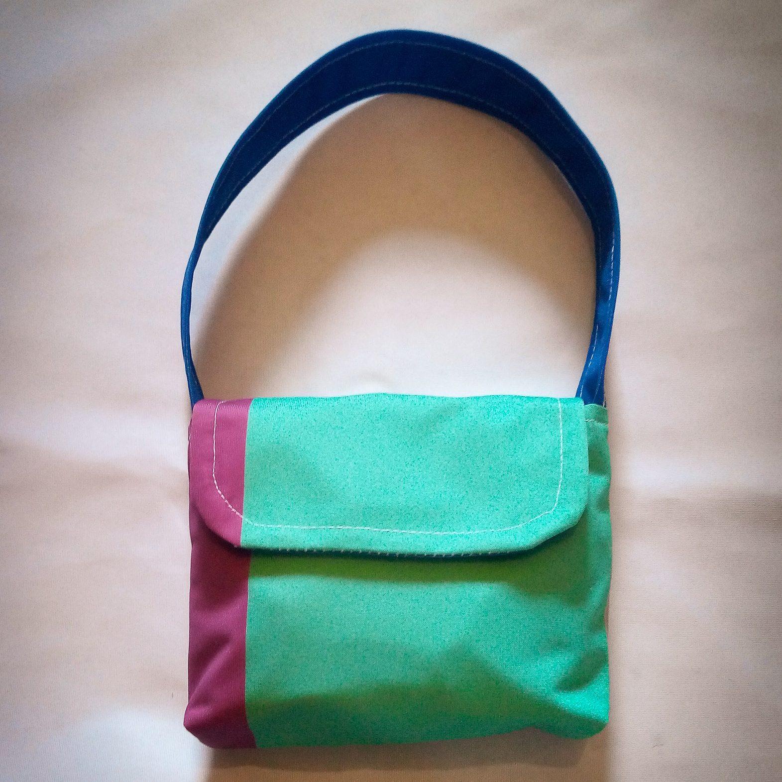 XS Handbag… Green, Purple & Blue