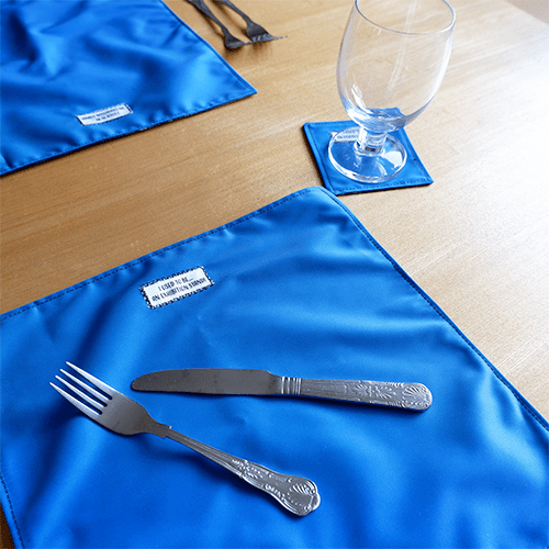 Fabric Placemat Reverse, Blue