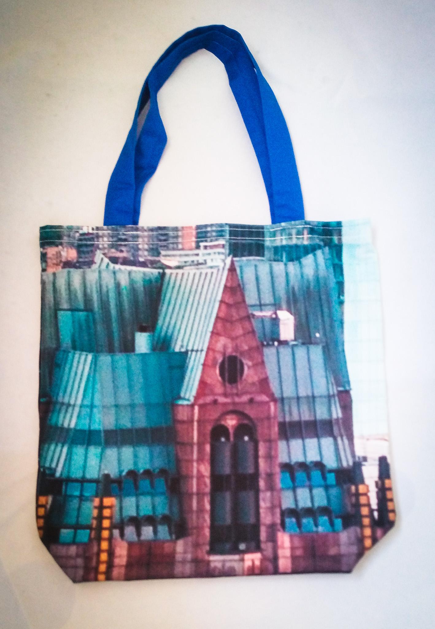 Handmade Fabric Tote Bag, London Buildings