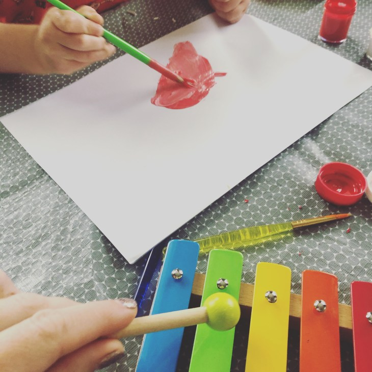 Painting sound - Mindful Art Activity for Kids