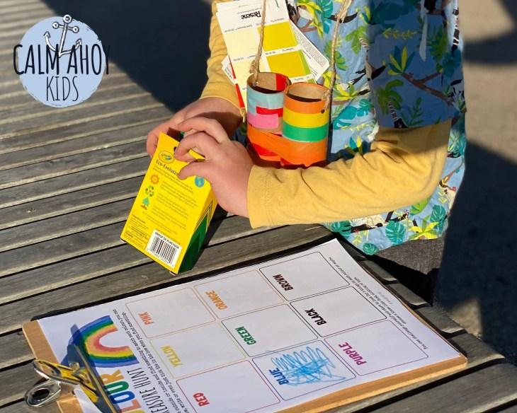 Color walk DIY kit for kids