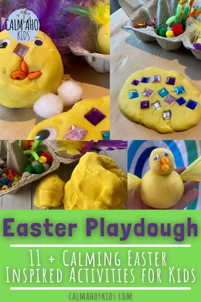 Calming Easter Playdough Activity