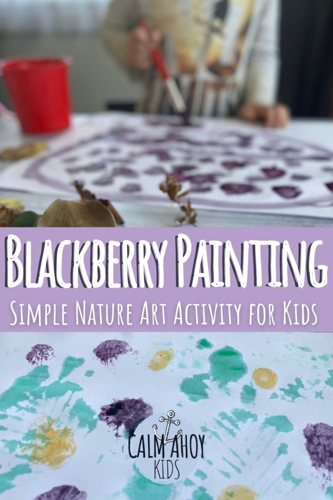 Blackberry Painting Nature Project for Kids