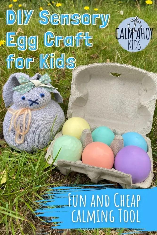 DIY sensory egg craft for kids - easy calming tool