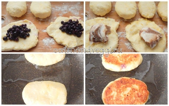 Сырники без яиц из творога с начинкой
