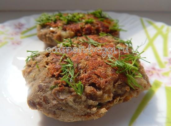 Вегетарианские чечевичные котлеты постные рецепт