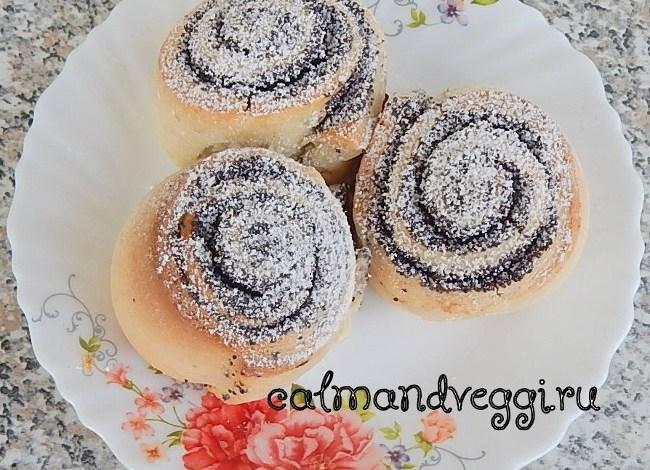 Вкусные и красивые булочки с маком из дрожжевого теста. Рецепт.