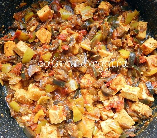 тушеные овощи с сыром тофу, пошаговый рецепт с фото
