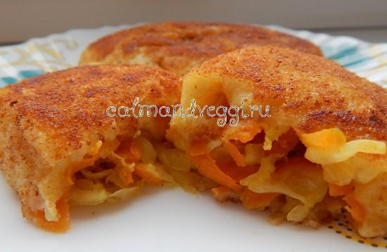 Постные картофельные зразы с капустой рецепт с фото пошаговый