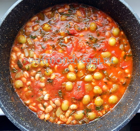 вегетарианская солянка рецепт из белой фасоли