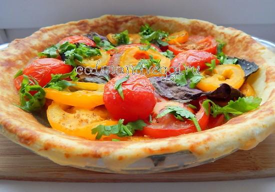 Пирог с томатами и базиликом рецепт с фото