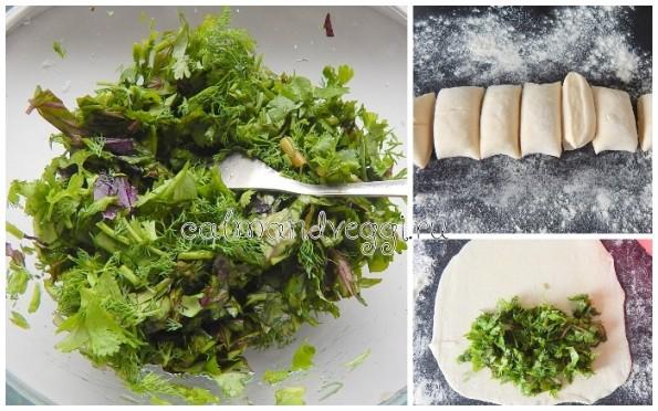 Кутабы с зеленью пошаговый рецепт с фото