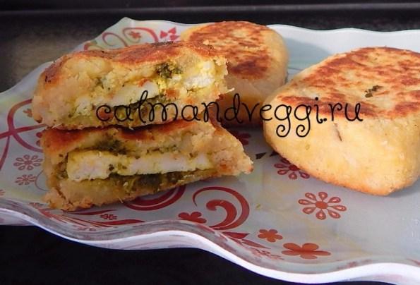 картофельные зразы с сыром и зеленью