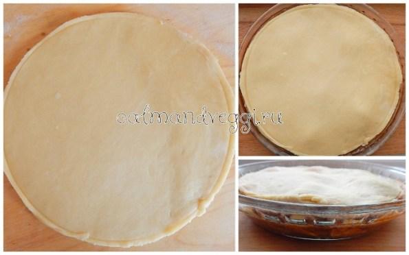 яблочный перевернутый пирог без яиц