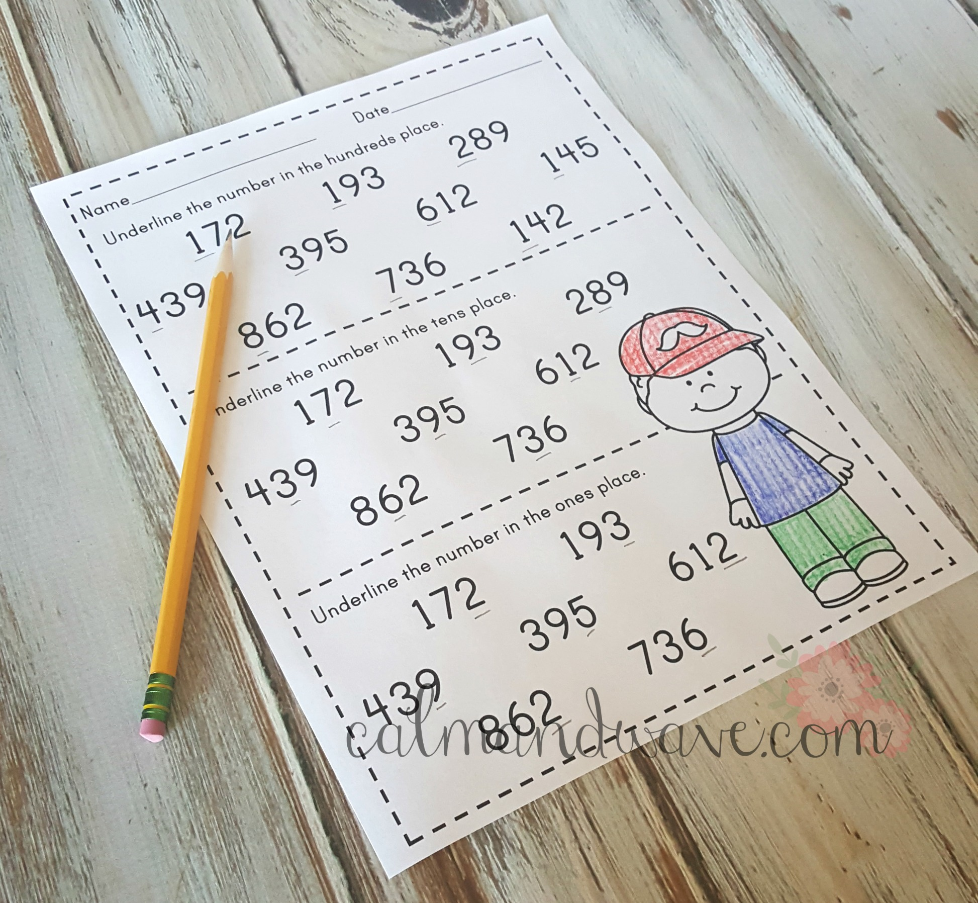 Printable Worksheet Place Value Disks