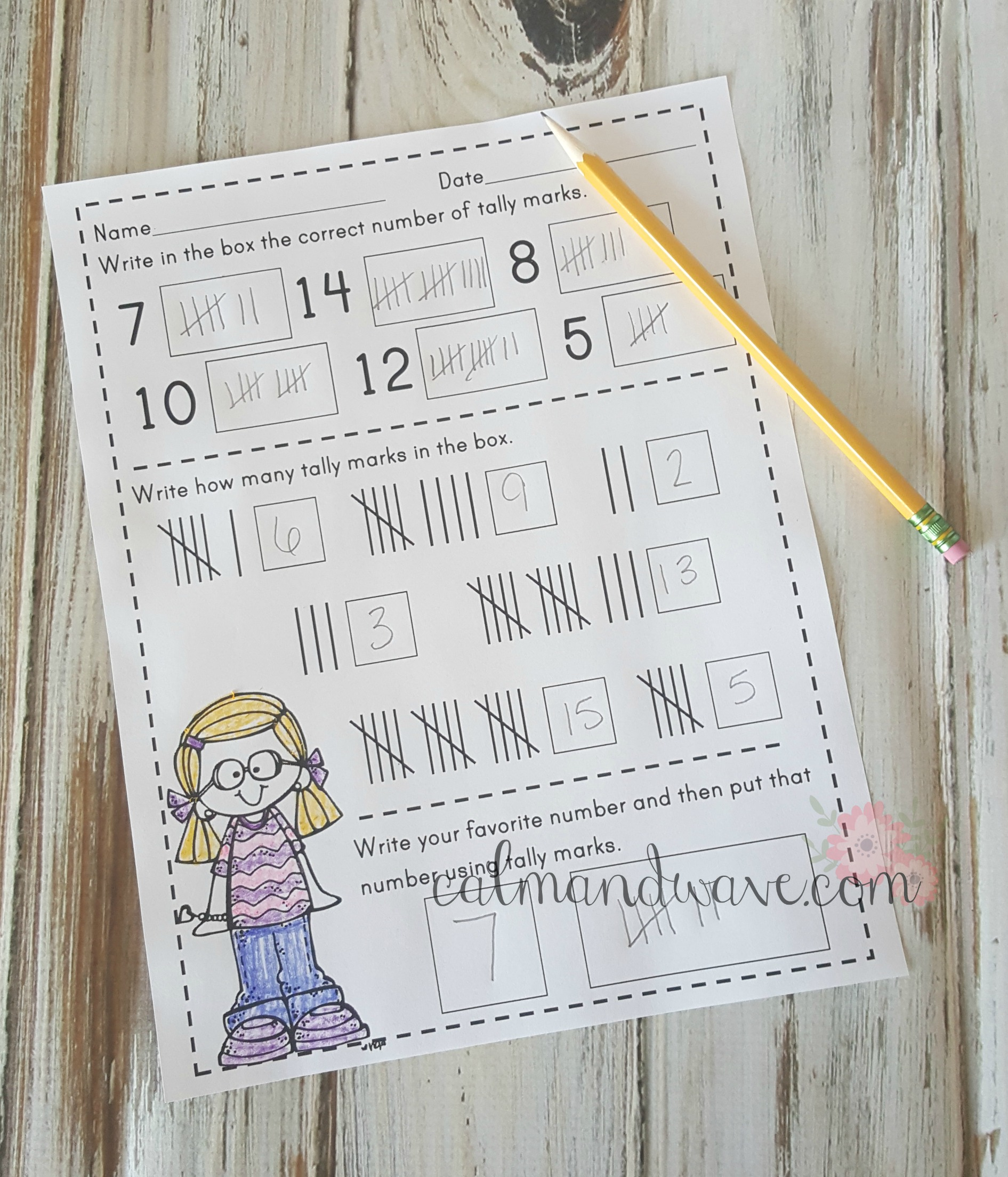 Free Tally Mark Printable Worksheet