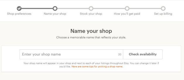 2 Shop name for Etsy calmandwave.com Setting up your Etsy shop