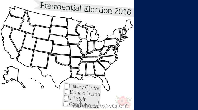 U.S. Presidential Election 2016 Activities and Free Election Map Printable