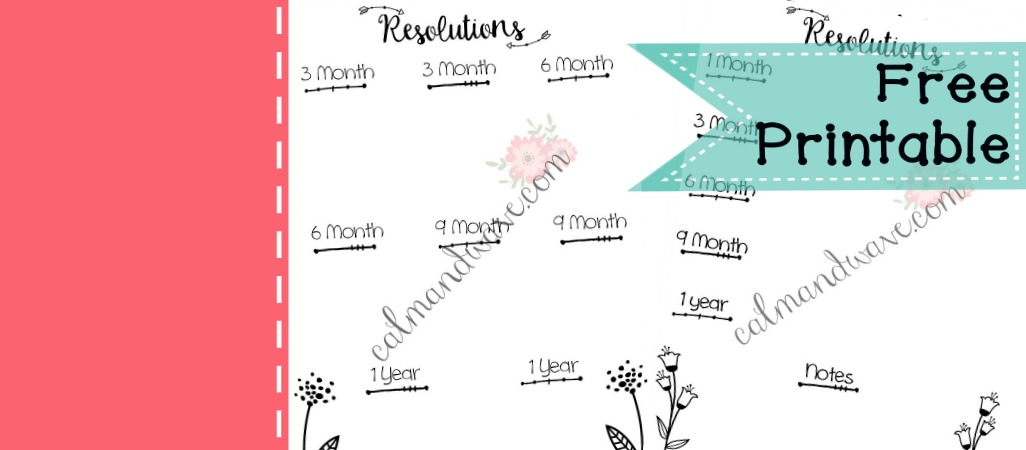 Planning New Years Resolution Worksheet Free Printable Monthly