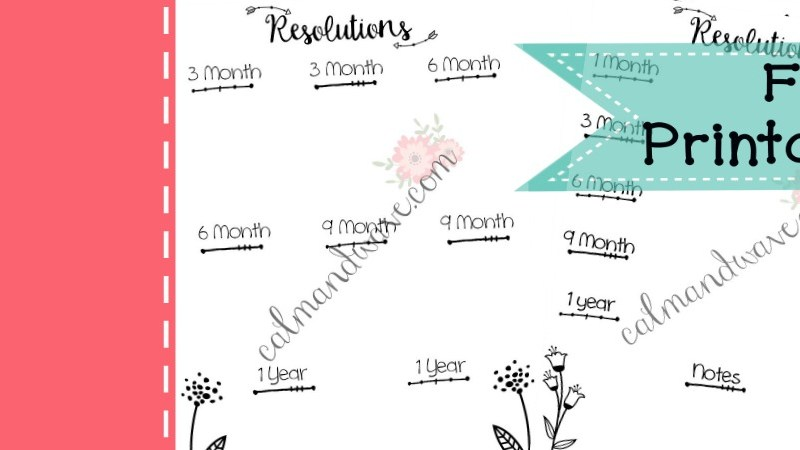 Planning New Year's Resolution Worksheet | Free Printable | Monthly Goals