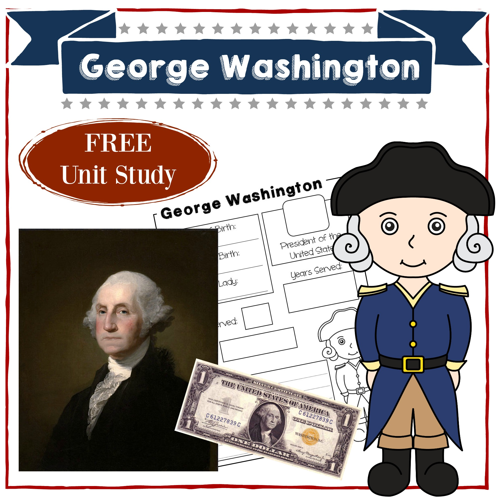 picture relating to Printable Pictures of George Washington referred to as George Washington Homeschool Gadget Analyze American