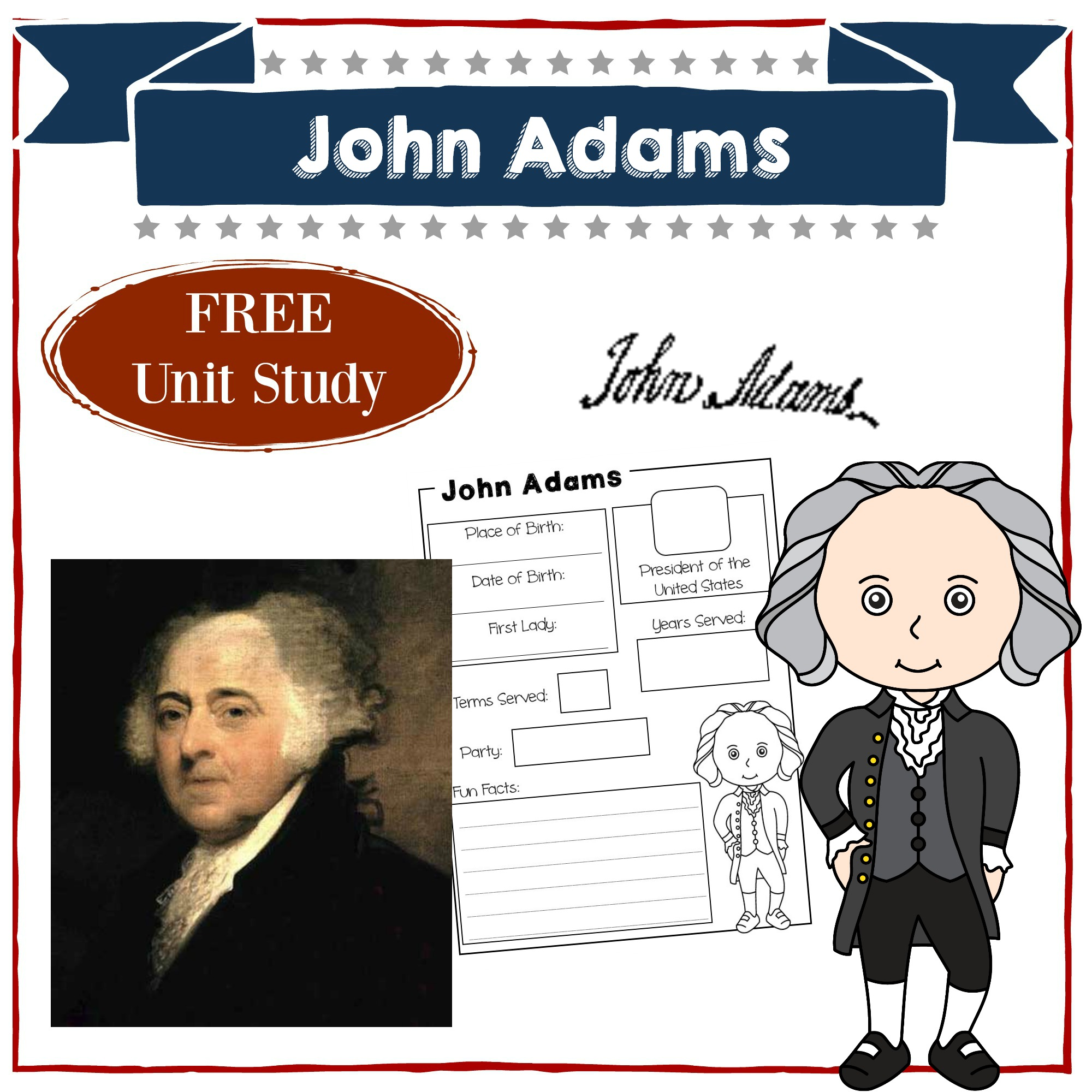 graphic about Printable Pictures of Presidents named John Adams Homeschool System Analysis American Presidents