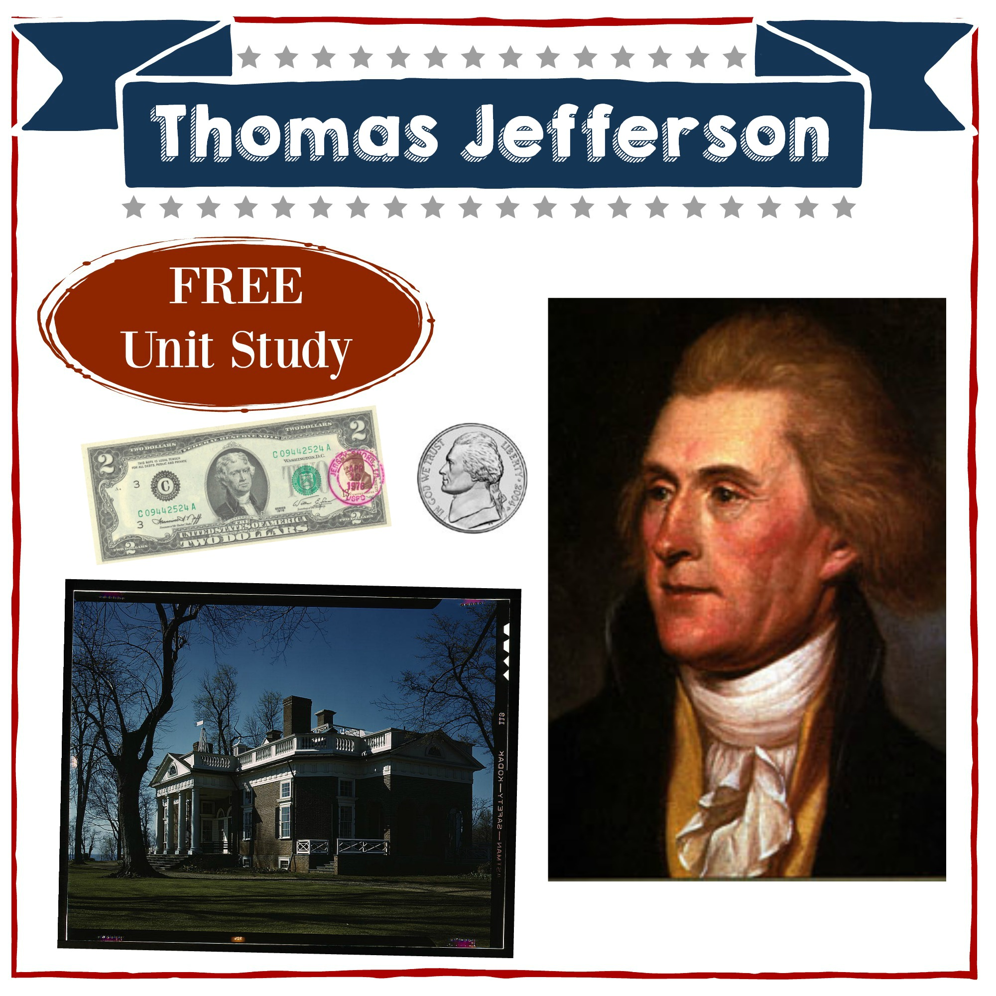 Thomas jefferson homeschool unit study american presidents