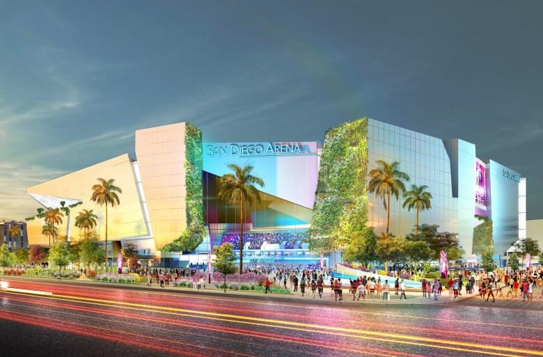 Representación artística del San Diego Arena. Imagen a través del comunicado de prensa de Brookfield Properties.