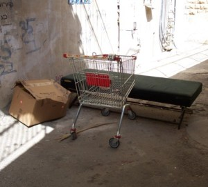 Homeless person's abandoned spot
