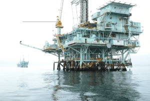 An oil platform off Santa Barbara's coast. Photo by Doc Searls