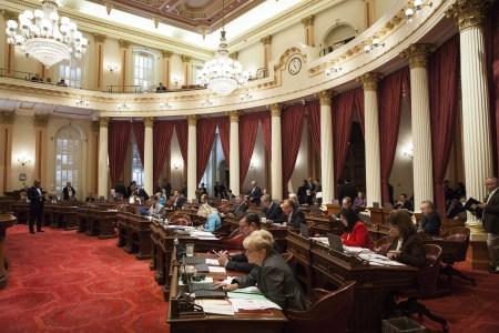 California Senate floor, photo by Max Whittaker for CALmatters