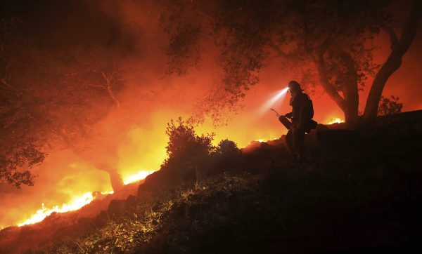 Wildfires burned across Sonoma County is October 2017. Now, legislators in California's Capitol will determine wildfire liability. | Photo by Kent Porter/The Press Democrat via AP