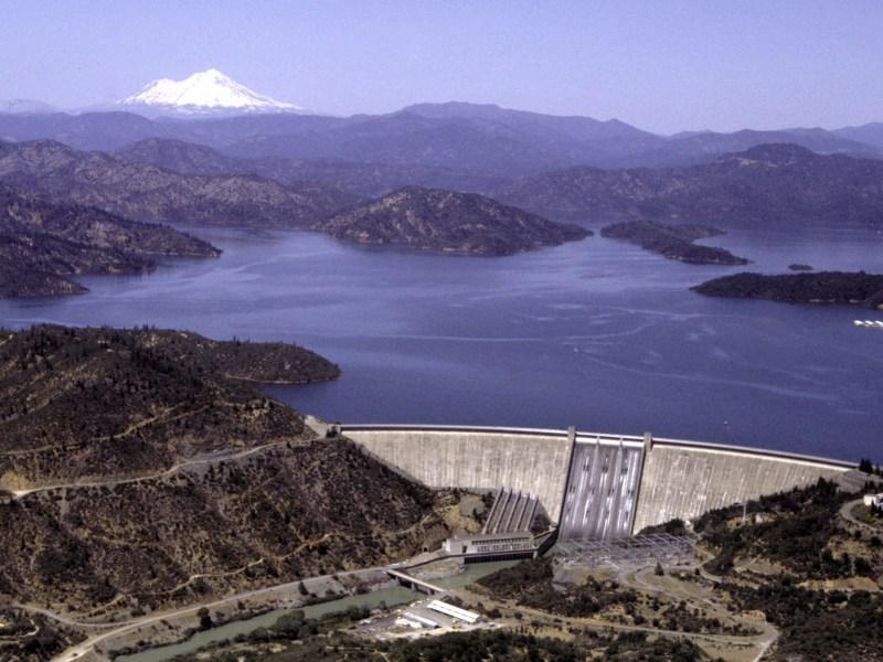 Shasta Dam is one of California's largest generators of hydroelectric power. Photo via Bureau of Reclamation