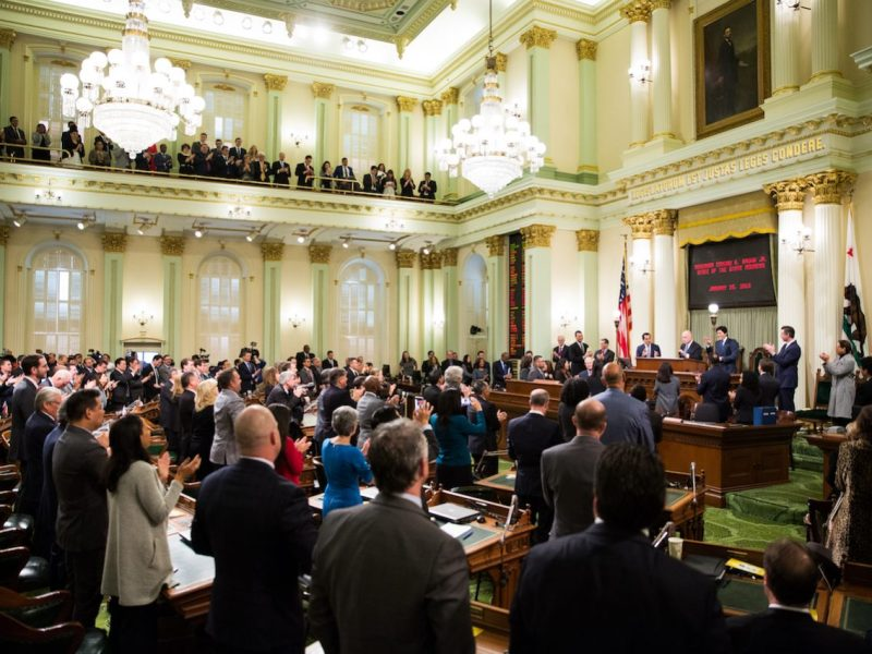 California Governor Jerry Brown delivers his final State of the State address at the State Capitol. Photo by Max Whittaker for CALmatters
