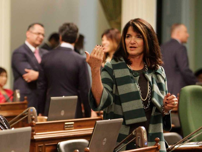Diane Harkey speaks on the Assembly floor.