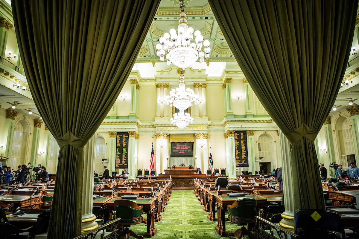 The California Assembly chamber. Photo by Max Whittaker for CALmatters.
