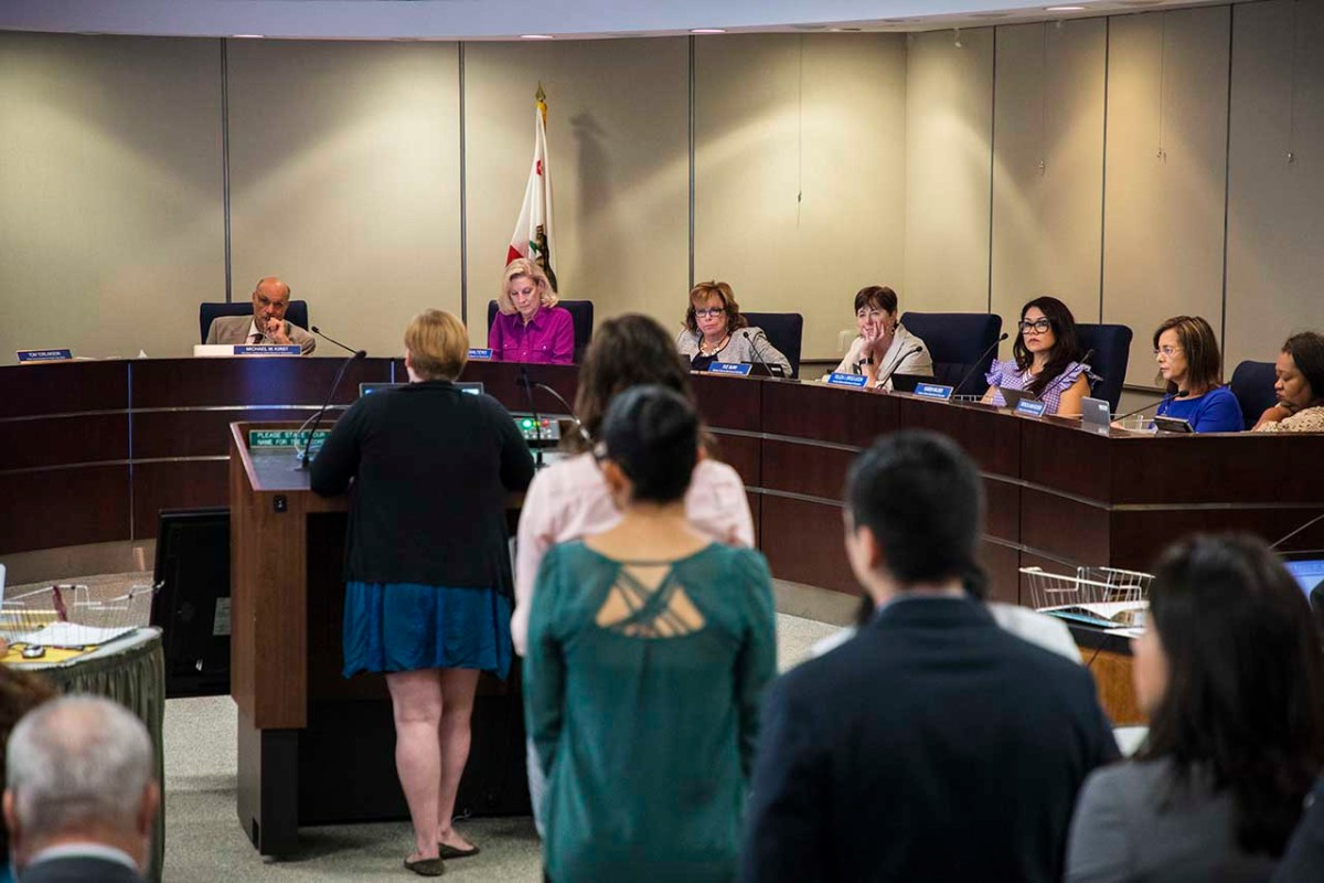The California State Board of Education, which sets policy for California schools, is shown on July 11, 2018. | Photo by Robbie Short for CALmatters