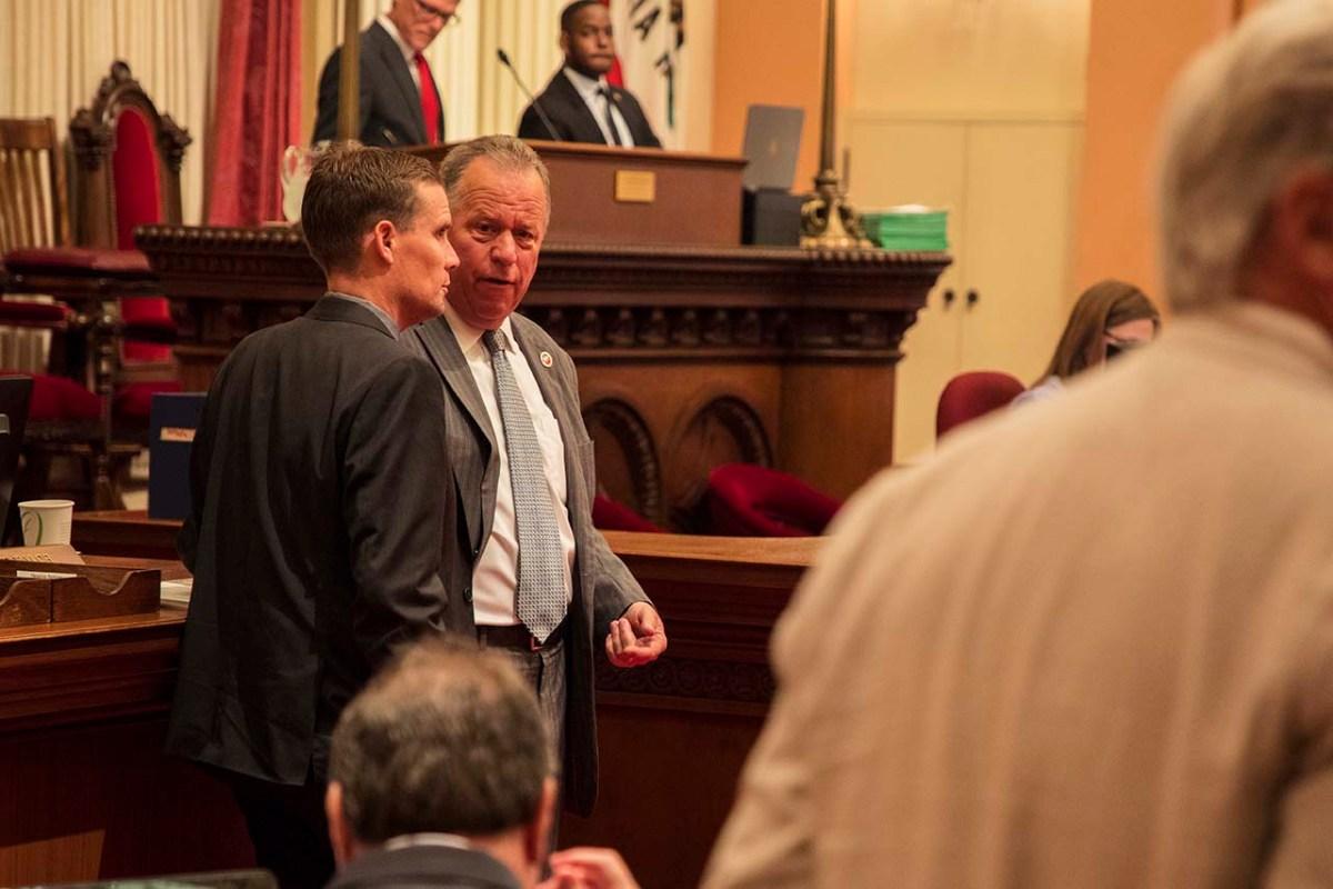 Sen. Bill Dodd (D-Napa), Aug. 9, 2018. Photo by Robbie Short for CALmatters