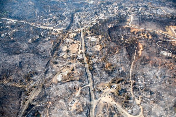 Aerial view of Shasta County's Keswick Dam area after the Carr Fire, Aug. 21, 2018. Kathleen Galligan, USA TODAY network. Used by permission.