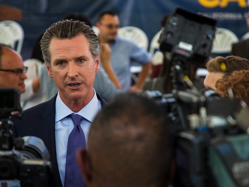 Lieutenant Governor Gavin Newsom opposes Proposition 10. Photo by Robbie Short for CALmatters