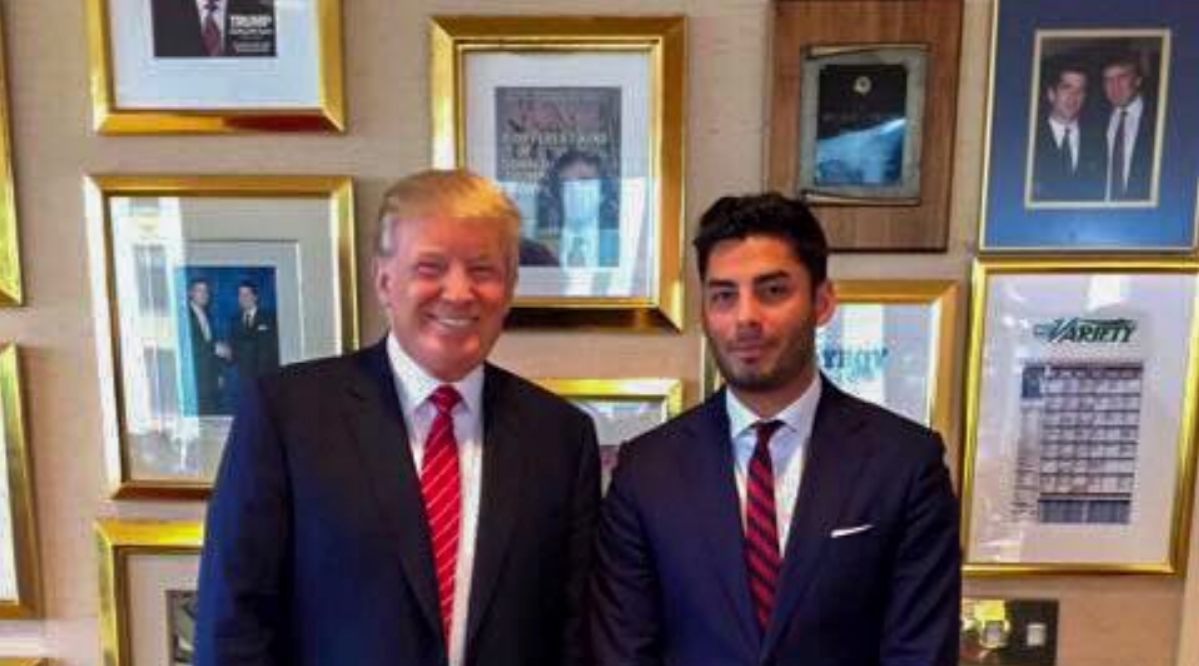 Ammar Campa-Najjar stands beside President Donald Trump