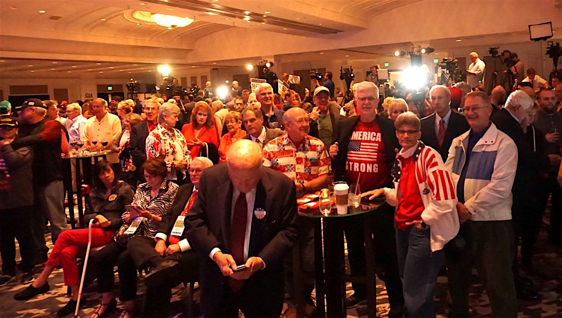 California Republicans gathered in San Diego for an election night celebration during which there was precious little to celebrate. Photo by Ben Christopher