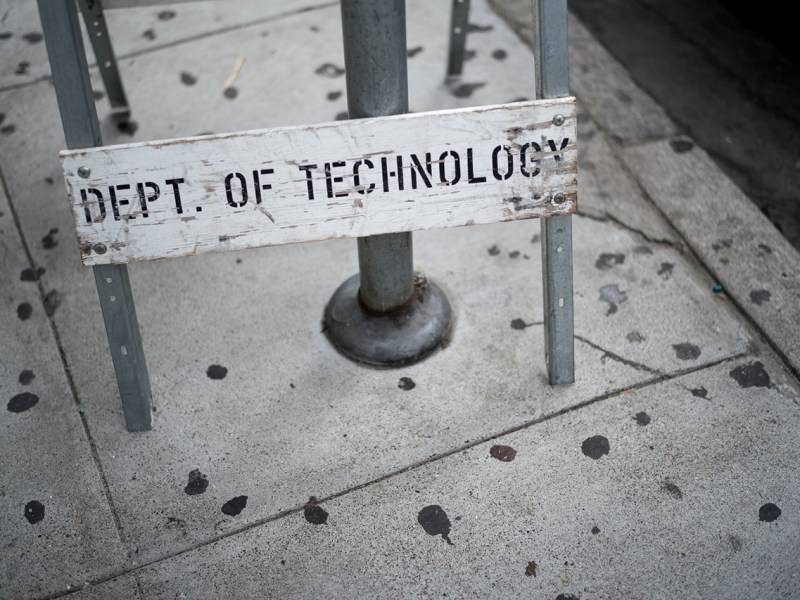 photo of sign that says dept of technology