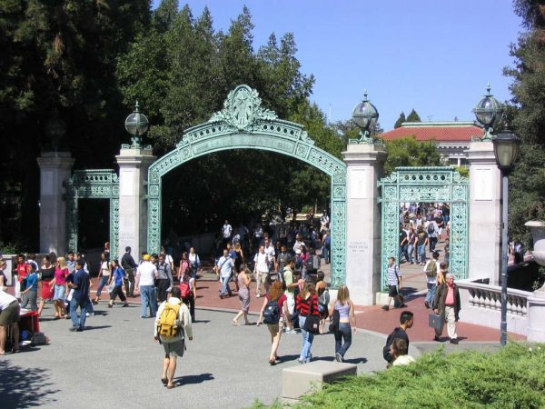 photo of Sather Gate at UC Berkeley. Photo by Minesweeper via Creative Commons