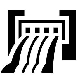 icon of a dam