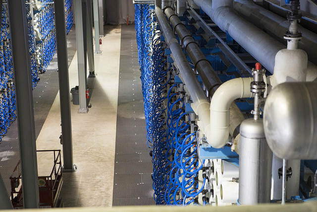 Desalination plant, Carlsbad, CA. Photo by San Diego County Water Authority.