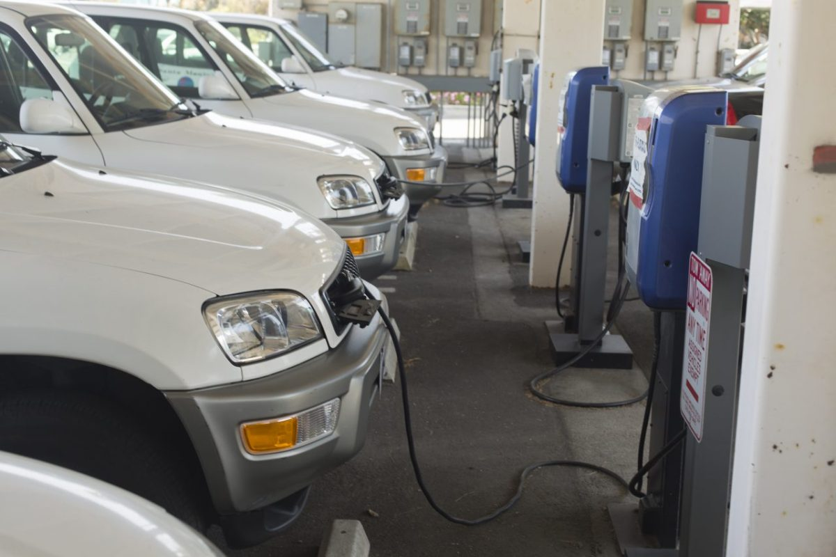 Electric cars are key to California's green future. Photo by davidf, istockphoto.com