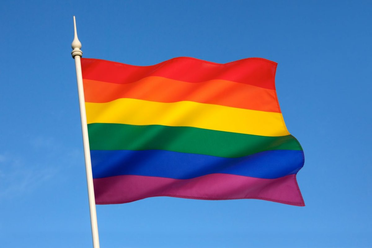 The rainbow flag or gay pride flag, is a symbol of lesbian, gay, bisexual, and transgender pride. It originated in California, but is now used worldwide.