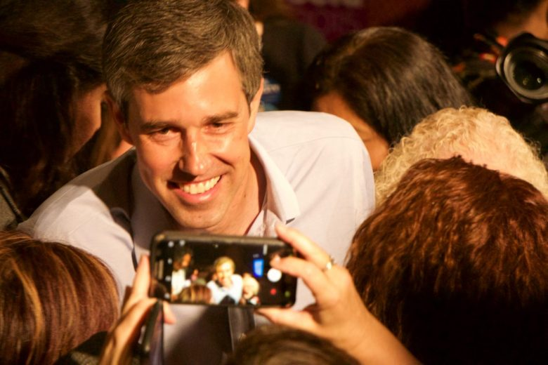 Presidential candidate Beto O'Rourke turns on the Texas charm for delegates at the California Democratic Convention. Photo by Ben Christopher for CALmatters